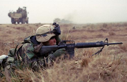 Sgt. Brett Edwards, a Marine Reservist from Price, Utah, served with Fox Company, 2nd Battalion, 23rd Marines, during the spring 2003 invasion of Iraq .