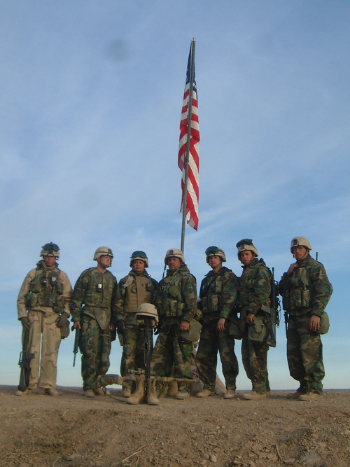 Staff non-commissioned officers of Fox Company, 2nd Battalion, 23rd Marines.