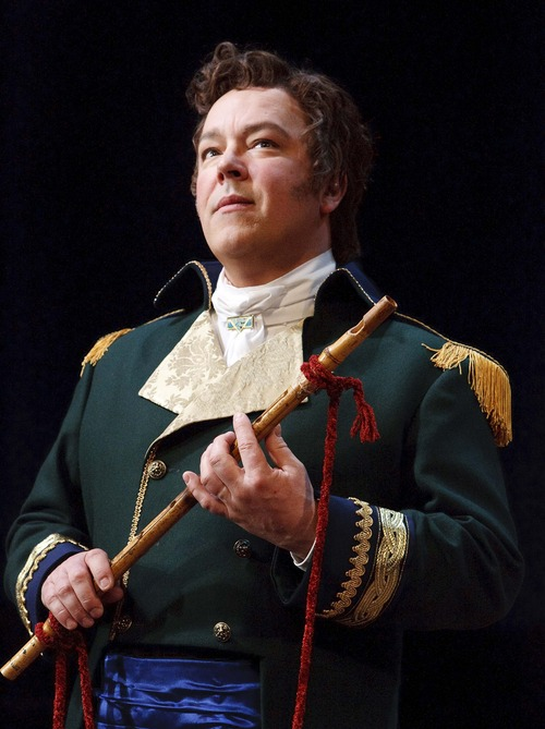 "Leah Hogsten  |  The Salt Lake Tribune Tenor Robert Breault, director of the University of Utah's opera program, plays the male lead, Tamino, in Utah Opera's production of Mozart's ""The Magic Flute."""