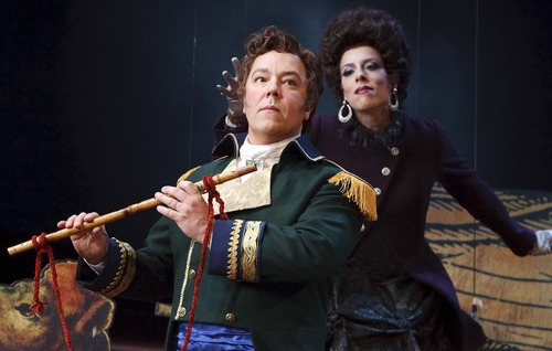 "Leah Hogsten  |  The Salt Lake Tribune Robert Breault plays Tamino and Audrey Luna is the Queen of the Night in Utah Opera's production of Mozart's ""The Magic Flute."""