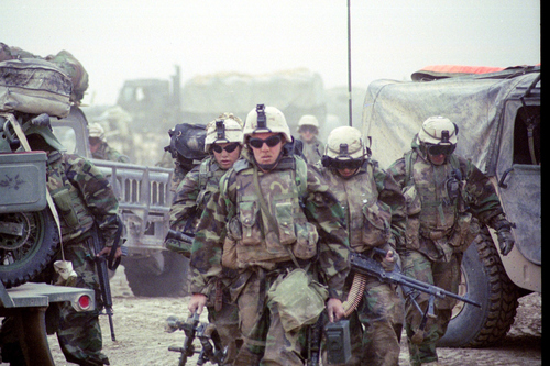 Marines from Fox Company, 2nd Battalion, 23rd Marines in Gharraf, Iraq.
