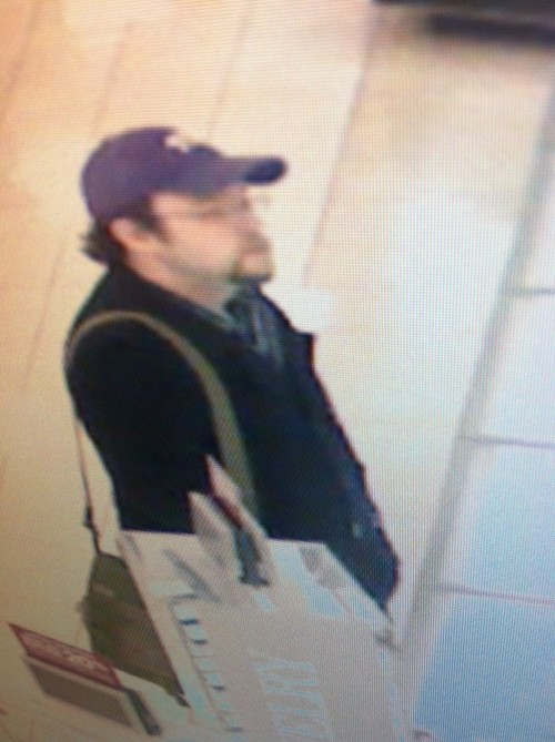 On 3/18/2013 at 1341 hrs, a male suspect entered the Seagull Bookstore located at 1140 Brickyard Road with a weapon and demanded money. The suspect then left the store on foot. (See Attached Photos) Anyone who recognizes this individual or has information about this case is asked to call 801-799-3000. Courtesy Salt Lake City Police Department