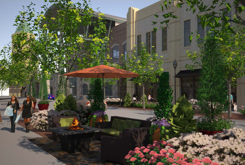 Rendering for $2 million renovation project at The Gateway. Courtesy image