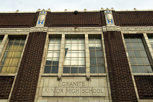 Chris Detrick     The Salt Lake Tribune Granite High School photographed on Friday March 15, 2013.