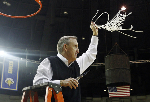 Belmont coach Rick Byrd will lead his team against Arizona in Salt Lake City. (AP Photo/Wade Payne)