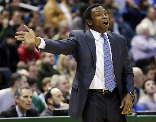 Former Brooklyn Nets coach Avery Johnson played for Southern. (AP Photo/Morry Gash)