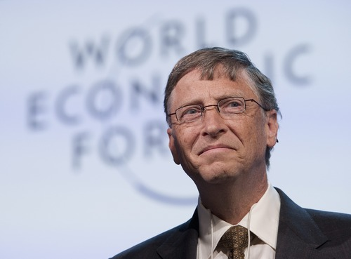 Bill Gates may not have graduated from Harvard, but he did attend classes there. (AP Photo/Keystone, Jean-Christophe Bott)