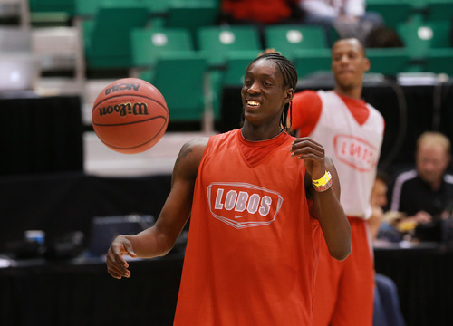 Scott Sommerdorf   |  The Salt Lake Tribune New Mexico G Tony Snell during the New Mexico Lobos' practice session at Energy Solutions Arena, Wednesday, March 20, 2013.
