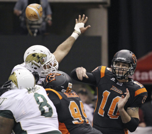 Lennie Mahler  |  The Salt Lake Tribune Utah Blaze quarterback Tommy Grady and his teammates plan to take the next step in the 2013 postseason: win an Arena League championship.