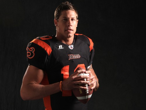 Rick Egan   |  Tribune file photo  Utah Blaze quarterback Tommy Grady