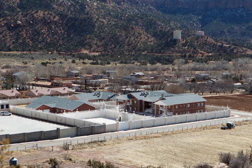 Trent Nelson  |  The Salt Lake Tribune The south half of an FLDS property, containing homes built for Warren Jeffs, Monday, Feb. 18, 2013.
