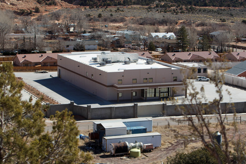 Trent Nelson  |  The Salt Lake Tribune The north half of an FLDS property, containing a building labeled Storehouse Annex, Monday, Feb. 18, 2013.