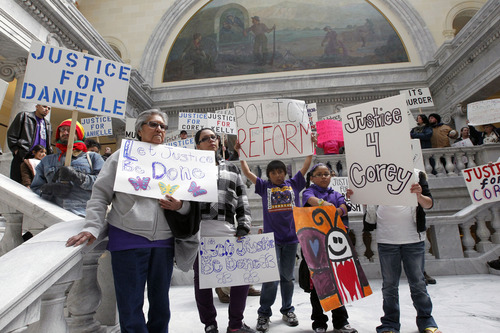 Al Hartmann     The Salt Lake Tribune The fatal shooting of Danielle Willard resulted in at least two rallies as citizens, friends, family demanded more information about what happened. This at the state capitol in front of the Supreme Court on March 4, 2013, protested what participants believed was excessive force by police in the deaths of Danielle Willard, Corey Kanosh and Kelly Simmons.