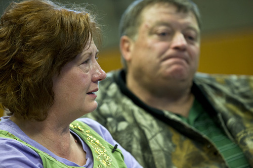Chris Detrick  |  The Salt Lake Tribune Julie and Derk Jones talk about their son, Elam Jones, in Huntington Saturday March 23, 2013.  Elam Jones, 29, was killed when a roof collapsed at the Rhino Mine near the mouth of Huntington Canyon in Emery County.