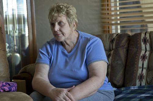 Chris Detrick  |  The Salt Lake Tribune Huntington Mayor Hilary Gordon talks about Elam Jones and Dallin McFarlane in Huntington Saturday March 23, 2013. Jones was killed and McFarlane was injured in a mining accident Friday.