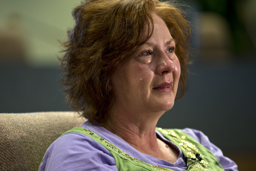 Chris Detrick  |  The Salt Lake Tribune Julie Jones talks about her son, Elam Jones, in Huntington Saturday March 23, 2013. Elam Jones, 29, was killed after a roof collapse at the Rhino Mine near the mouth of Huntington Canyon in Emery County.