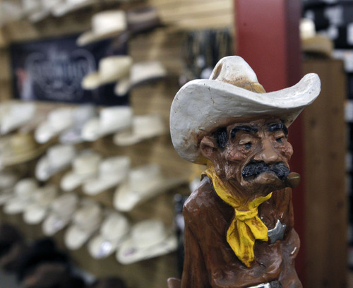 Al Hartmann  |  The Salt Lake Tribune Burns Saddlery has been in business since 1876. The Salina retail store is at 79 W. Main St. Burns makes its own saddles, hats and line of boots.