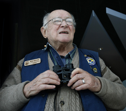 Rick Egan    The Salt Lake Tribune   Bear River Migratory Bird Refuge volunteer Bob Ebeling has given thousands of hours of service in the past 23 years, Friday, March 8, 2013.