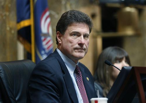 Scott Sommerdorf      The Salt Lake Tribune Rep. Jim Dunnigan, R-Taylorsville, in the Utah House of Representatives, Thursday, February 28, 2013.