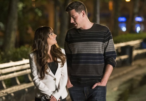 "GLEE: Finn (Cory Monteith, R) visits Rachel (Lea Michele, L) in the ""Break Up"" episode of GLEE airing Thursday, Oct. 4 (9:00-10:00 PM ET/PT) on FOX. ©2012 Fox Broadcasting Co. Cr: David Giebrecht/FOX"