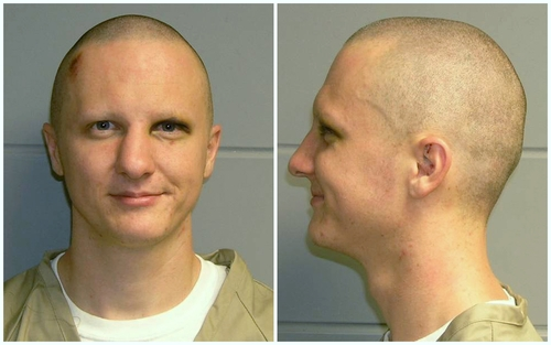 FILE - This is a combo of photos of Jared Loughner released Tuesday, Feb. 22, 2011, by the U.S. Marshal's Service. Loughner pleaded guilty in the Tucson, Ariz., shooting rampage that killed six people and left several others wounded, including then-U.S. Rep. Gabrielle Giffords. Hundreds of pages of police reports in the investigation of the shooting were released Wednesday, March 27, 2013 marking the public's first glimpse into documents that authorities have kept private since the attack on Jan. 8, 2011. (AP Photo/U.S. Marshal's Office, File)(AP Photo/U.S. Marshal's Office)