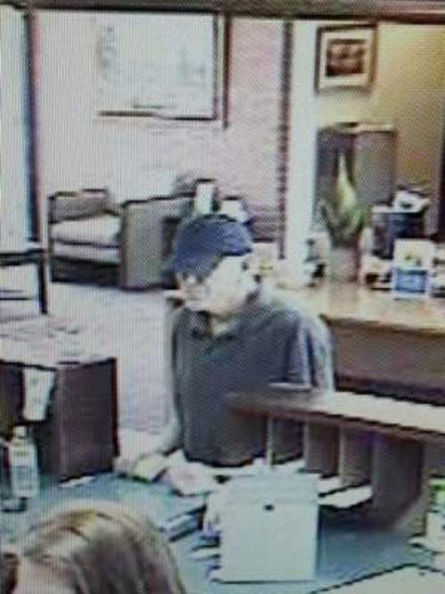 Suspect in Thursday bank robbery in St. George. (St. George Police photo)