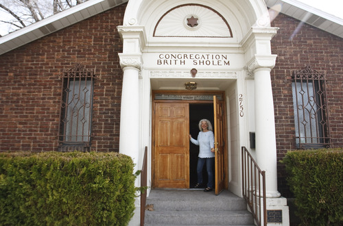 Leah Hogsten  |  The Salt Lake Tribune Congregation Brith Sholem president Judi Amsel. The synagogue, built in 1921 is the spiritual home to 45 families in Ogden.