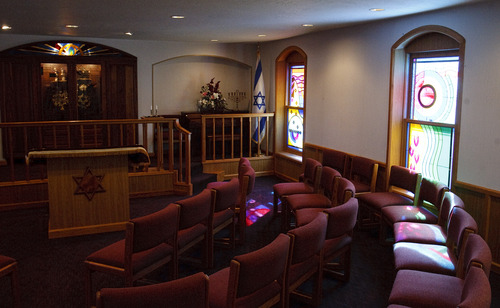 Leah Hogsten  |  The Salt Lake Tribune Congregation Brith Sholem. The synagogue, built in 1921, is the spiritual home to 45 families in Ogden.