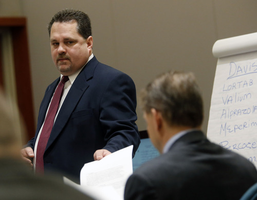Al Hartmann  |  The Salt Lake Tribune Davis County Attorney Troy Rawlings questions witness in Nathan Sloop's preliminary trial in 2nd District Court in Farmington Friday March 29.  Sloop is charged with the May 2010 death of his stepson, 4-year-old Ethan Stacy.