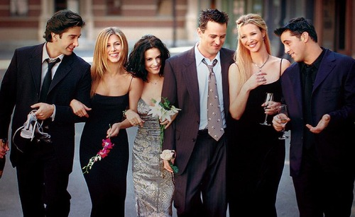 """Courtesy photo In one scene from """"Friends,"""" Rachel (Jennifer Aniston) is about to go on a date and doesn't want the guy to know she's pregnant. """"Hey, what do you think is the better excuse for why I'm not drinking on this date tonight? Um, I'm a recovering alcoholic. I'm a Mormon. Or I got so hammered last night, I'm still a little drunk."""""""