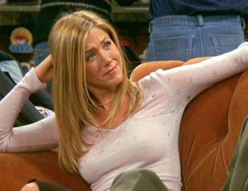 """Courtesy photo Rachel (Jennifer Aniston) explains her inability to drink by claiming she's a Mormon in an episode of """"Friends."""""""