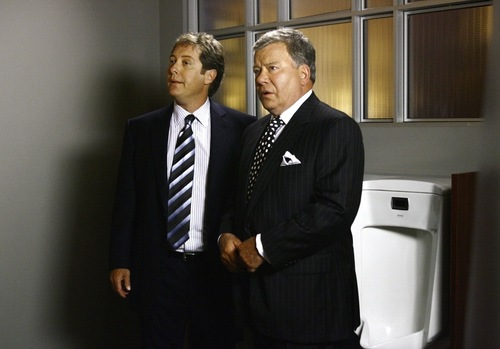 """Courtesy photo Denny Crane (William Shatner, left) and Alan Shore (James Spader) travel to a Utah dude ranch in an episode of """"Boston Legal."""""""