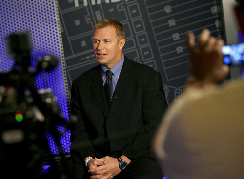 """Francisco Kjolseth   The Salt Lake Tribune """"When I heard it, I started thinking, 'OK, now this, this, this, this and this [will have to be figured out],' """" says Bronco Mendenhall, BYU football coach."""