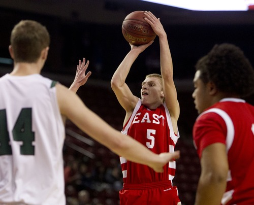 Trent Nelson  |  The Salt Lake Tribune East's Parker Van Dyke plans to play for Utah for a year before going on a mission.
