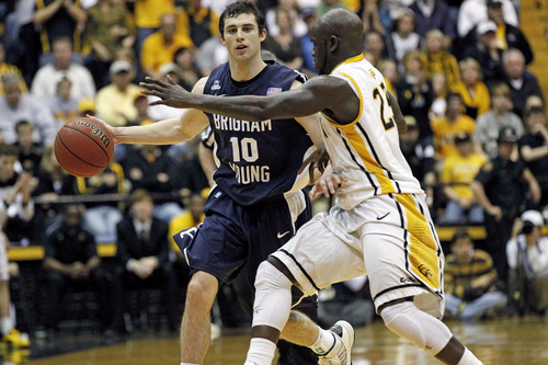 BYU guard Matt Carlino's play during the Cougars' NIT run showed maturity and progress after an up-and-down regular season. (AP Photo/Rogelio V. Solis)
