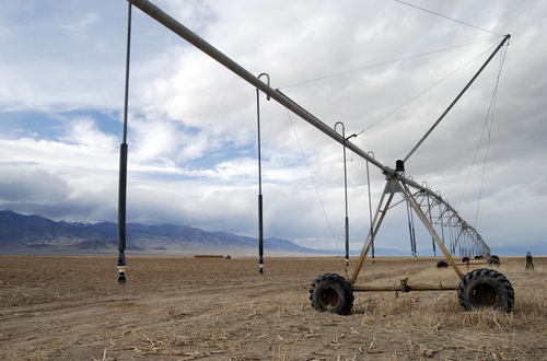 Brian Maffly | The Salt Lake Tribune  An irrigation pivot stands idle in EskDale, a Utah hamlet in Snake Valley. Water is the most important resource supporting the valley's remote communities.