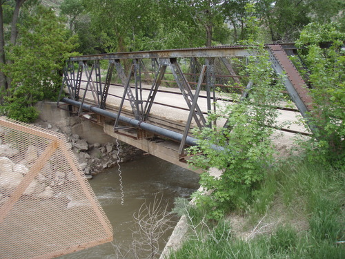 Courtesy UDOT Utah's oldest bridge is a Warren Through Pony Truss built in 1914 and located one mile northwest of Castle Gate in Carbon County.