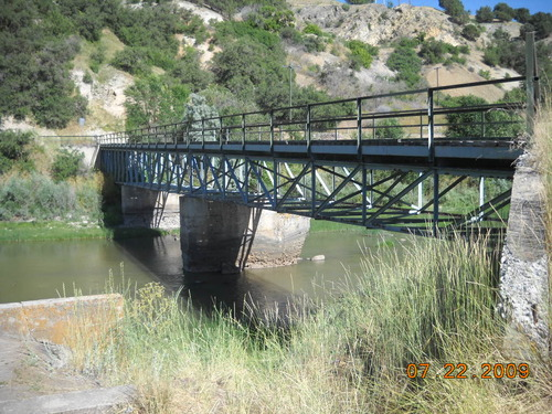 This Warren Deck Truss bridge, constructed in 1945, is rare. It is located in Box Elder County west of Cutler Dam. (Courtesy UDOT)