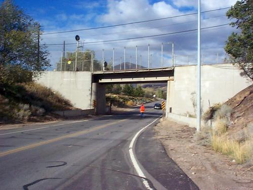 This 10947 bridge east of Copperton carries the KCC Railroad over SR 48. Though not particularly beautiful, it is interesting because it is an example of Kennecott's post-war expansion. Courtesy image