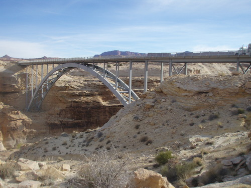 This bridge that carries SR-95 over the Colorado River near the Hite Marina was built in 1965 and crosses the Dirty Devil River. (Courtesy UDOT)