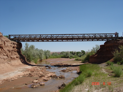 Courtesy image This 1951 Bailey truss bridge 1.5 miles north of Hanksville is the only example of an extant bridge in Utah. It was developed in World War II for field installations to carry military vehicles.