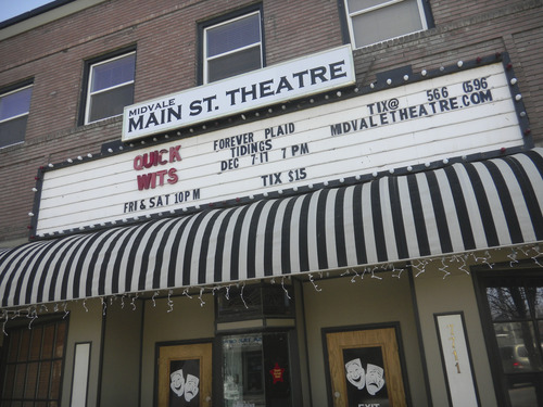 Tom Wharton  |  The Salt Lake Tribune Midvale's Main Street Theater hosts comedy and plays.