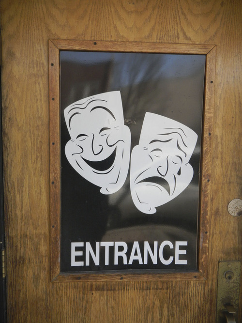 Tom Wharton  |  The Salt Lake Tribune Entrance to Midvale's Main Street theater.
