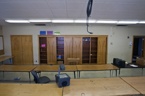 Chris Detrick  |  The Salt Lake Tribune Empty classrooms at Olympus High School Friday March 29, 2013.