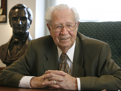 Patriarch Eldred G. Smith of the LDS Church is seen in this 2006 file photo.