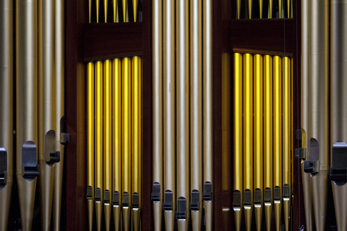 Chris Detrick  |  The Salt Lake Tribune The pipe organ used as Members of the Mormon Tabernacle Choir perform during the morning session of the 183rd Semiannual General Conference of The Church of Jesus Christ of Latter-day Saints Saturday April 6, 2013.