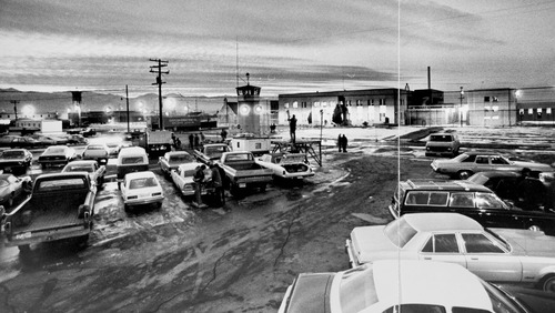 Tribune file photo  Cars parked outside the Utah State Prison in 1977.