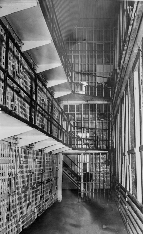 Tribune file photo  Rows of cells are seen at the Utah State Prison in 1943.