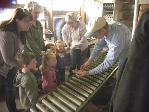 Tom Wharton     The Salt Lake Tribune Wayne Huber shows a preschool group tomato seeds at Joe's Greenhouse in Layton.