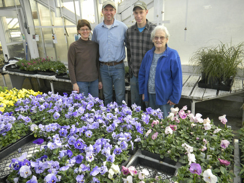 Tom Wharton     The Salt Lake Tribune Delana, Wayne and Jabe Huber and Mary Thorson make up three of the generations who operate Layton's Joe's Greenhouse, which opened in 1950.